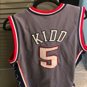 64fc5dbe613 Champion Shirts - Authentic New Jersey Nets Jason Kidd Jersey